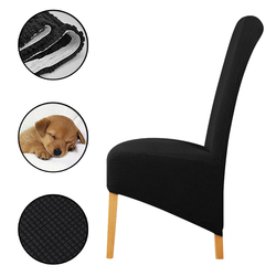 Lellen Waterproof or velvet fabric fleece fabric print chair cover stretch high king back Slipcovers for Christmas hotel Dining