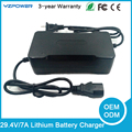 29.4 V 2A/3A/4A/5A/7A de Litio tipo eléctrico y uso nimh battery pack 7X3.6 v 7X3.7 V li-on de la batería Li-po cargador