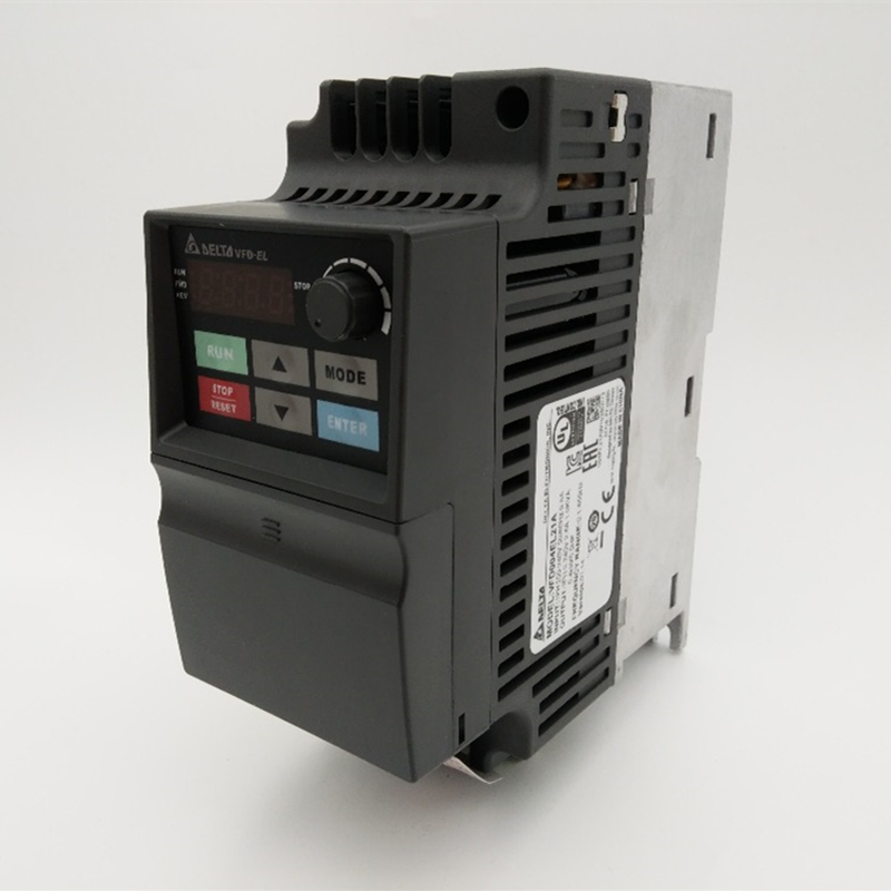 Delta Inverter VFD Variable Frequency Drive VFD004EL21A 1Phase 220V 0.4kW 0.5HP 0.1~600Hz For Water pump &Packaging machine vfd015el21a delta vfd el vfd inverter frequency converter 1 5kw 2hp 1phase 220v 600hz for small water pump and fan