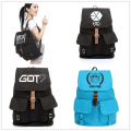 Kpop Exo bts shinee snsd bigbang bap got7 infinite schoolbag korea style canvas backpack school backpack