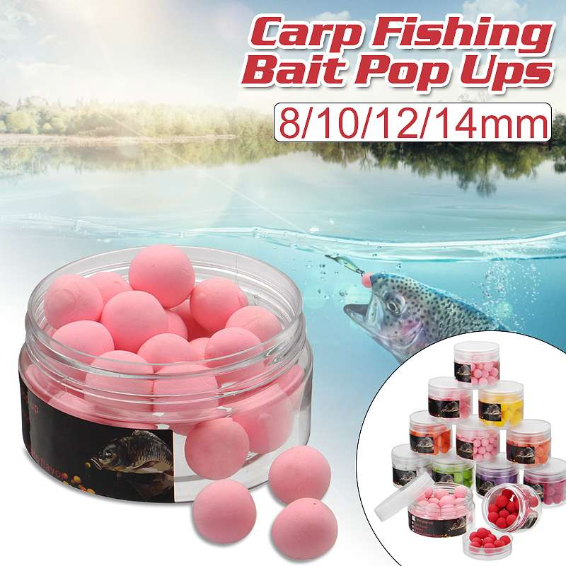 Smell Ups Carp Fishing Bait Boilies 8mm-14mm Floating Ball Beads Feeder Artificial Carp Baits Lure Hair Rig image