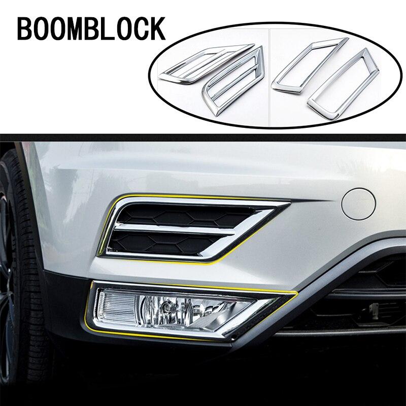 Carro-styling Para VW Tiguan 2017 2018 Para Volkswagen VW Tiguan 2 MK2 Grelha Frontal 2016 Lâmpadas de Luzes de Nevoeiro Adesivos Covers acessórios