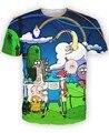 Мужская женщины мужчины 3D приключения весело футболка Cartton приключения время с финн и джейк футболки летом с коротким рукавом майки топы тройник
