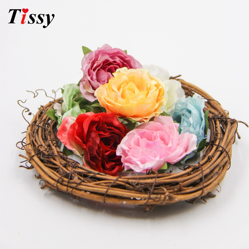 20pcs diy silk rose flower head decorative rose artificial flowers 20pcs diy silk rose flower head decorative rose artificial flowers for home garden wedding birthday party decoration supplies in artificial dried flowers izmirmasajfo