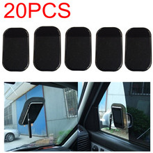 20pcs/lot Free Shipping Car Use Black Anti Slip Mat Silicon Gel Sticky Pad For Phone GPS PDA MP3 MP4