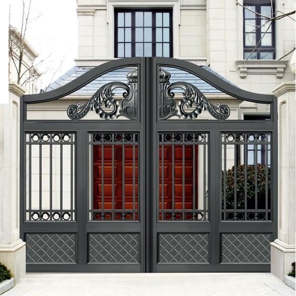 outside gate vertical stripes security aluminum door & outside gate vertical stripes security aluminum door-in Doors from ...