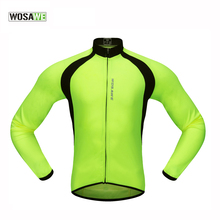 WOSAWE New Mesh Breathable Long Sleeve Cycling Jersey Men Mtb Road Bike Cycling Clothing Quick-Dry UV Protect Ropa Ciclismo