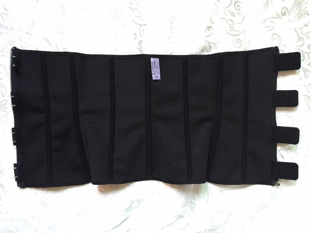 Zipper And Hooks Combo Rubber Waist Trainer Sexy Waist Corsets Latex Corset Waist Cincher Zip And