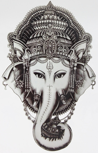 Elephant Tattoo Cool Beauty Sexy Tattoo Waterproof Temporary Tattoo Stickers