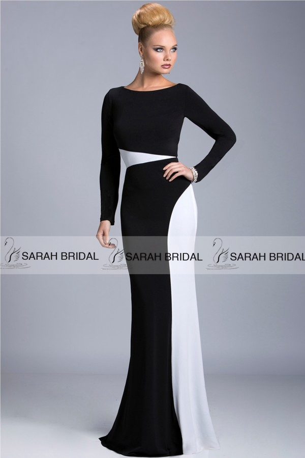 Popular Black and White Mother of The Bride Dresses-Buy Cheap ...