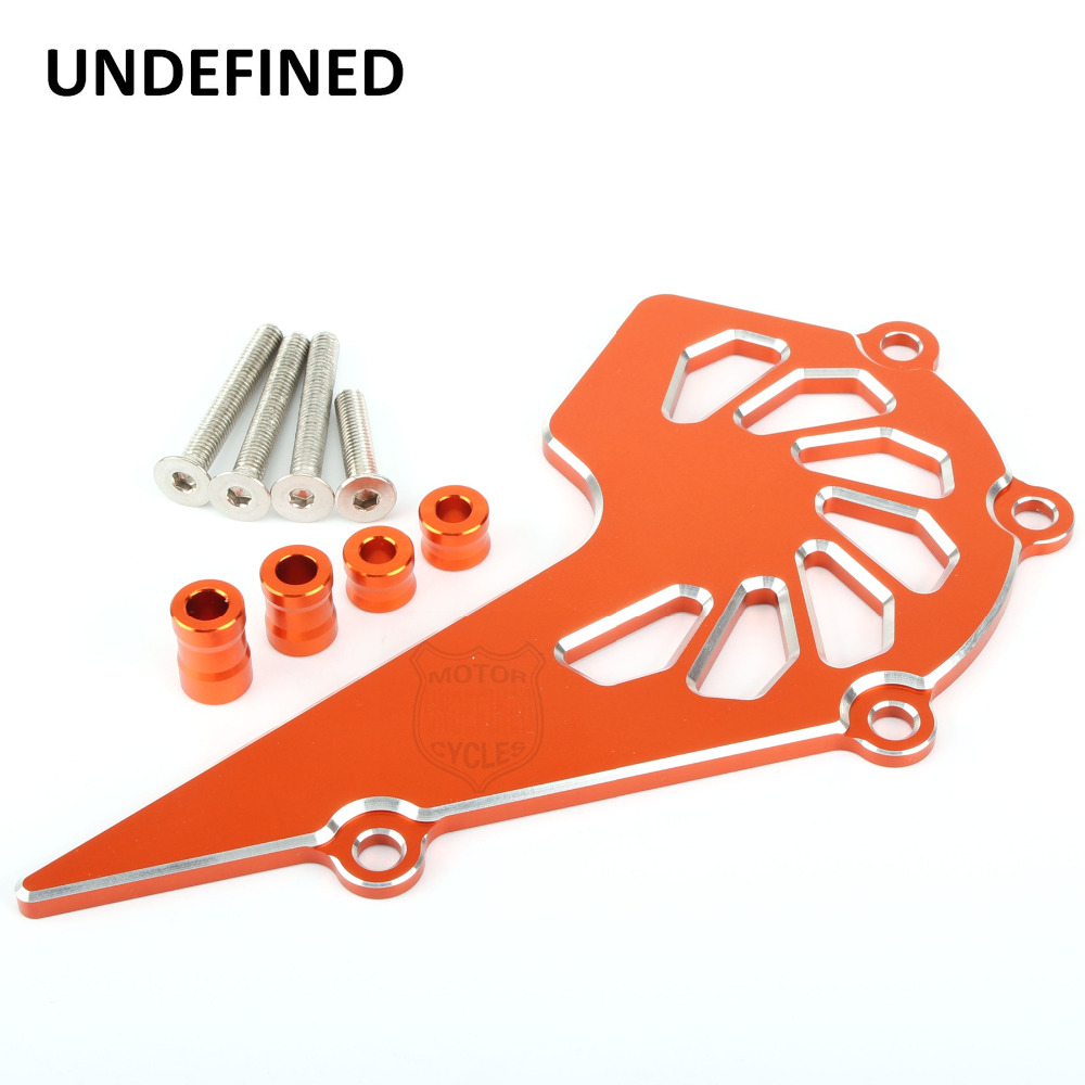 Motorcycle Accessories Aluminum Orange Front Sprocket Chain Cover Guide Guard Protector For KTM Duke 390 RC 390 UNDEFINED cnc aluminum motorcycle accessories chain guard cover protector orange for ktm duke 125 200 all year 390 2013 2014 2015 13 14 15