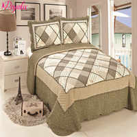 """Brand """"Royalux"""" Europe High Quality 230*250CM Quilted Bedspread With Pillowcases On The Bed Warm Blanket With Pillowcases"""
