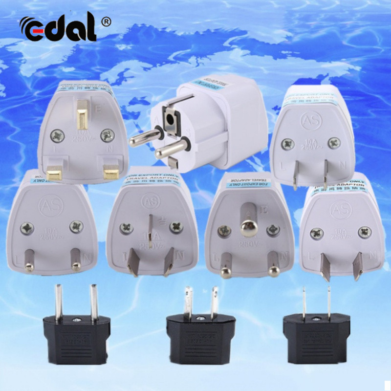 Universal EU/US/AU/UK/DE Plug AC Power Plug Home Travel Converter Europe Wall charger Jack Connector Socket Adapter Adaptor