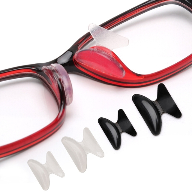 a31c203dcb3 10 Pairs Sunglasses Adhesive Silicone Non-slip Eyeglasses Stick on Nose Pads