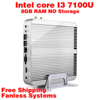 Mini PC Intel 7e Gen Kaby 7100U Lac Windows 10 i3 8 GB de RAM NO armazenamento 4 K HD Graphics 620 300 M Wifi HDMI TV Box Frete Grátis