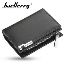 Baellery Vintage Men Wallet PU Leather Short Wallets Male Multifunctional Purse Coin Pocket Driver License Holder for Bags