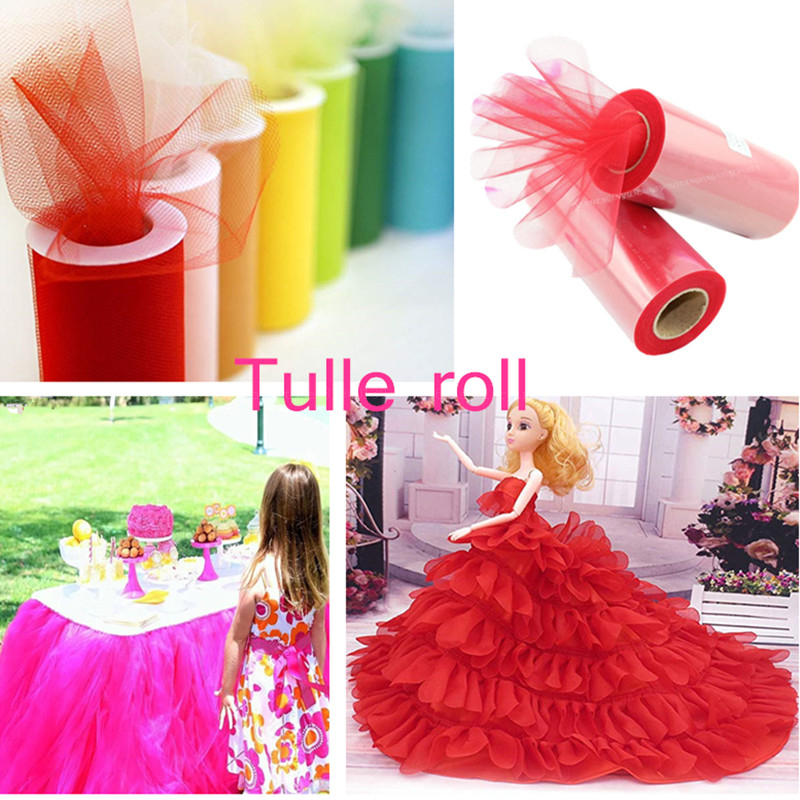 Image 2 - 22mx15cm Tulle Roll Colorful Shiny Crystal Tutu Wedding Decoration Baby Shower Organza DIY Crafts Birthday Party Supplies 7Z-in Artificial & Dried Flowers from Home & Garden