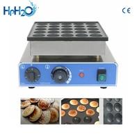 CE approved 110V/220V NO stick commercial 25 holes Dorayaki Poffeftjes Mini Dutch Pancakes Maker waffle pancake machine