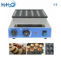 CE approved 110V/220V NO stick commercial 25 holes Dorayaki Poffeftjes Mini Dutch Pancakes Maker waffle pancake machine
