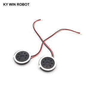 """Image 2 - 2 יחידות חדש אלקטרוני כלב GPS ניווט רמקול צלחת 8R 1 w 8ohm 1 w קוטר 20 מ""""מ 2 ס""""מ עם 1.25 מ""""מ מסוף חוט אורך 10 ס""""מ"""