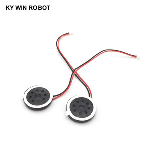 Image 2 - 2pcs New Electronic dog GPS navigation speaker plate 8R 1W 8ohm 1W Diameter 20MM 2CM with 1.25mm terminal wire length 10CM