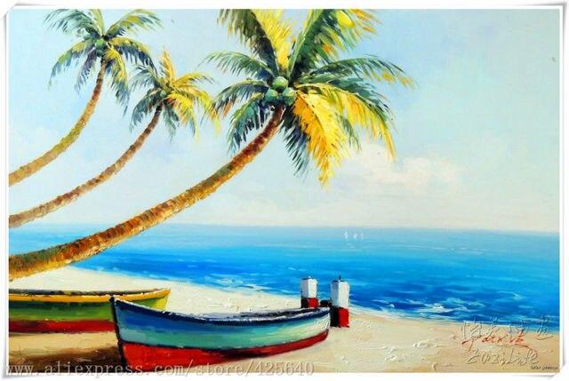 Oil Paintings Of Beach Huts