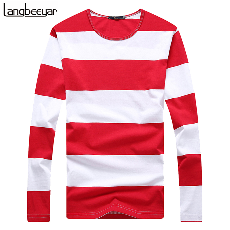 Online buy wholesale striped tee shirts from china striped for Mens striped long sleeve t shirt