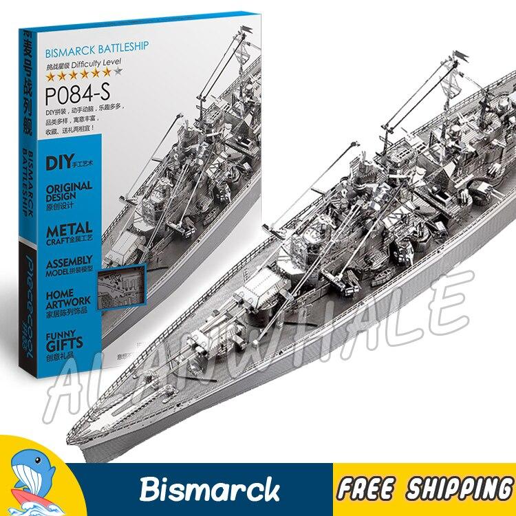 New P084S Bismarck Battleship Model Building Puzzle Toy Set