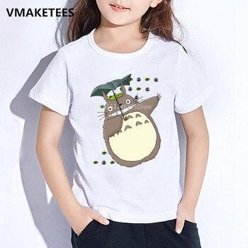 Kids Summer Girls & Boys T shirt Children Miyazaki Hayao Kawaii Totoro Cartoon Print T-shirt Anime Funny Baby Clothes,HKP4117 children new cartoon t shirt zelda diy print t shirt baby kids funny clothes children summer t shirt