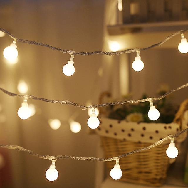Outdoor Fairy Lights Adorable 60M 60 LED String Light Outdoor Fairy Lights Bulbs Garden Patio