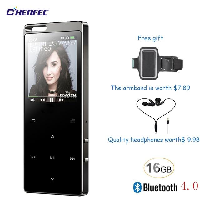 タッチボタン 16 ギガバイトの Bluetooth 4.0 ハイファイデジタル MP3 音楽プレーヤーロスレスミニポータブル Fm ラジオ無料ギフト mp3