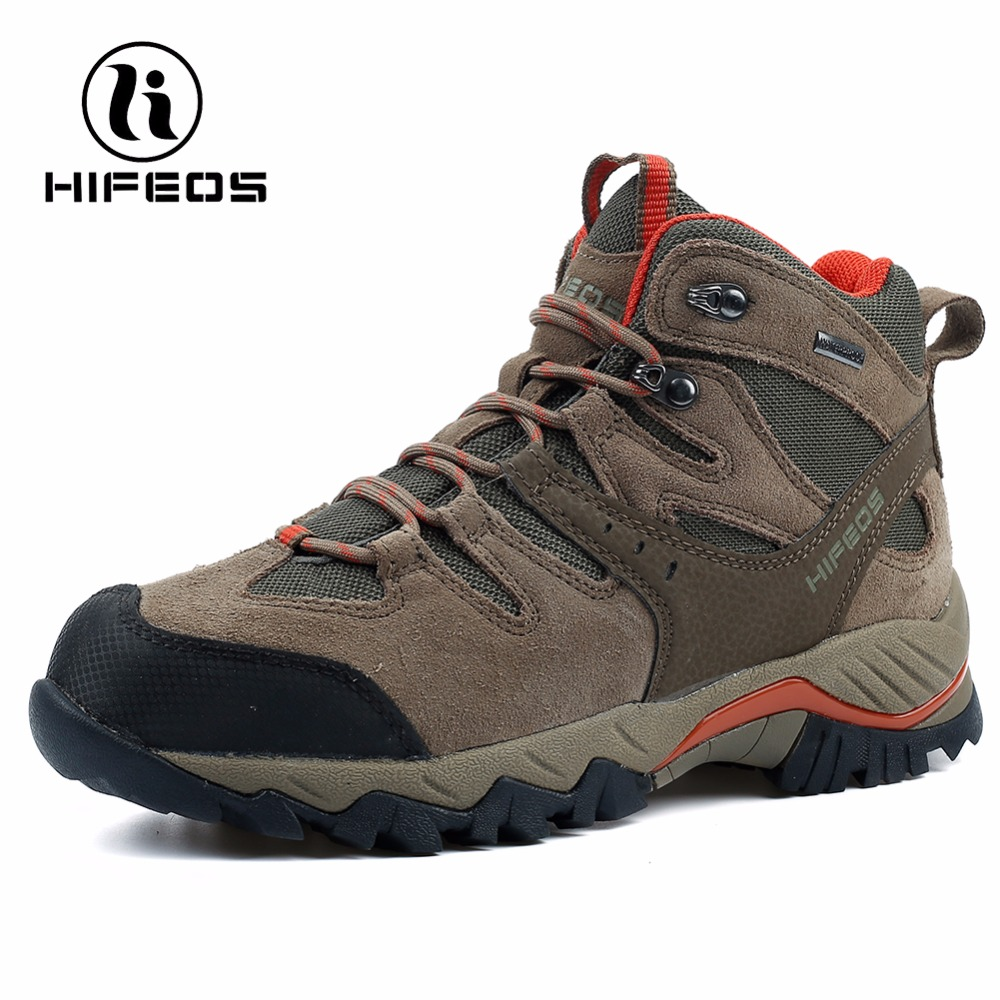 HIFEOS sneakers for men tactical hiking boots waterproof breathable mountaineer camping shoes winter outdoor sport climbing M02A yin qi shi man winter outdoor shoes hiking camping trip high top hiking boots cow leather durable female plush warm outdoor boot