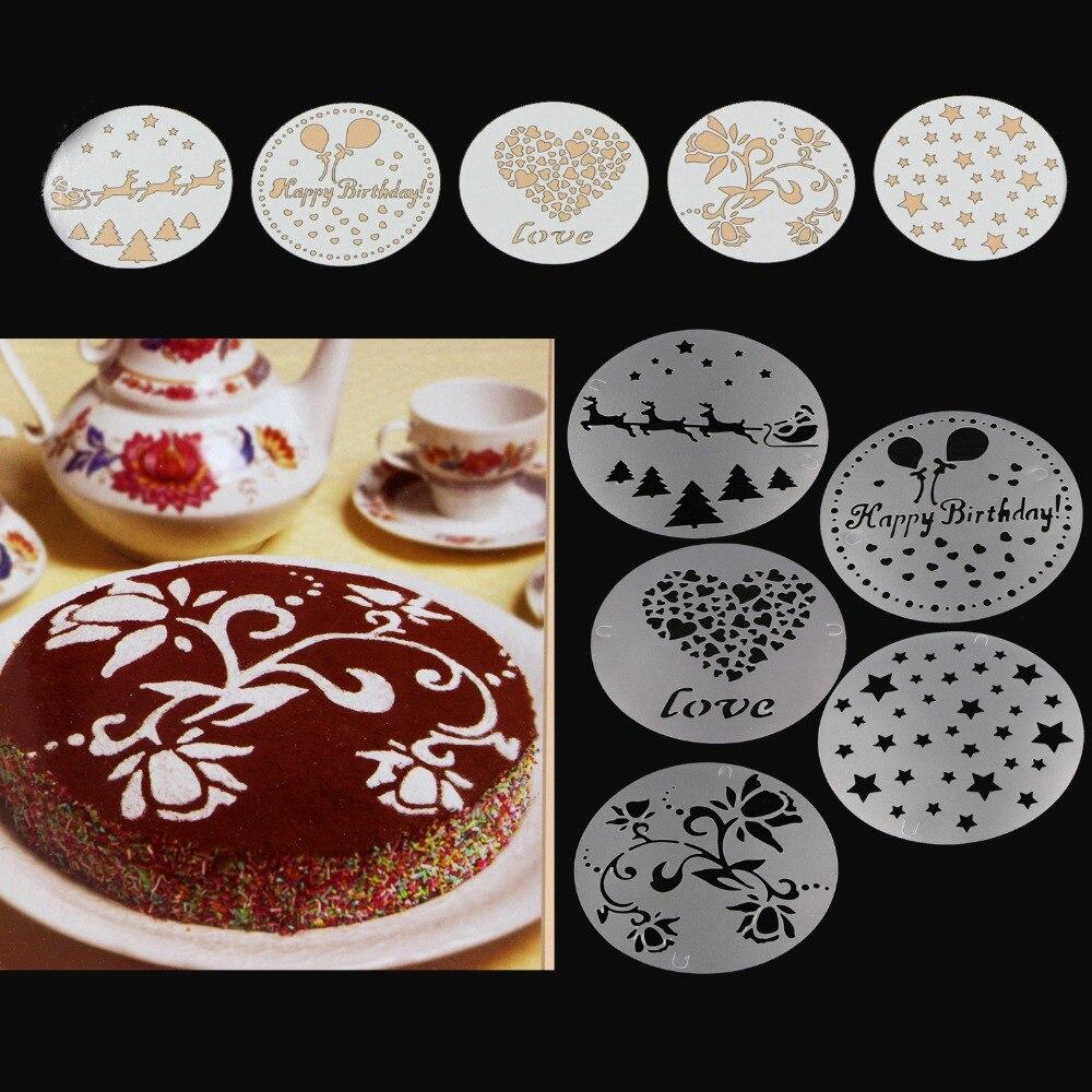 ᐊPlantilla stencil Utensilios para hornear 5 unids/set baking ...