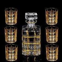 Высокое качество, Хрустальное стекло, чашка для вина, золото, виски, стеклянная чашка, креативное красное вино, стеклянная чашка для коньяка,...