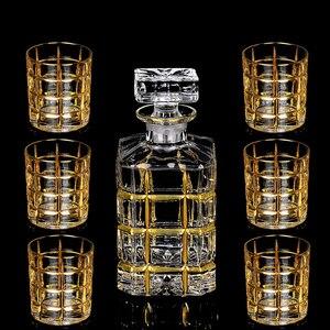 Image 1 - Kryształ wysokiej jakości szklany kieliszek do wina złoty kieliszek do whisky kubek kreatywny lampka do czerwonego wina brandy zestaw filiżanek barwarer agd drinkware