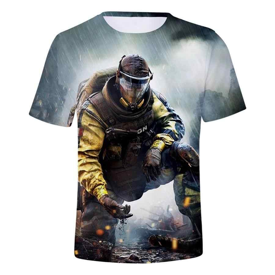 Trò Chơi mới Cầu Vồng Sáu Cuộc Bao Vây 3D In Áo Thun Phụ Nữ/Người Đàn Ông Hip Hop Thời Trang Dạo Phố T-Shirt Chàng Trai Gothic Modis T áo sơ mi 2019 Quần Áo camisas
