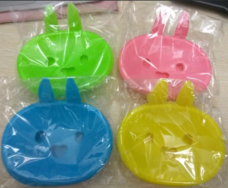 Cartoon, smiling face, rabbit shape, leachate soap box, bathroom accessories,