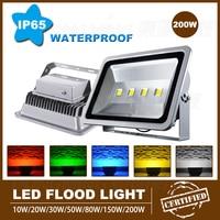 4pcs high lumen outdoor led flood light bulbs white 12000LM led floodlight 200W AC85 265V IP65 waterproof led spotlight