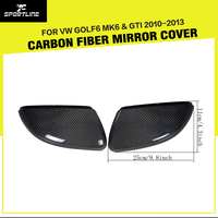 09 12 Promotional MK6 Carbon Fiber Full Replacement Car Review Mirror Cover Side Mirror Caps For