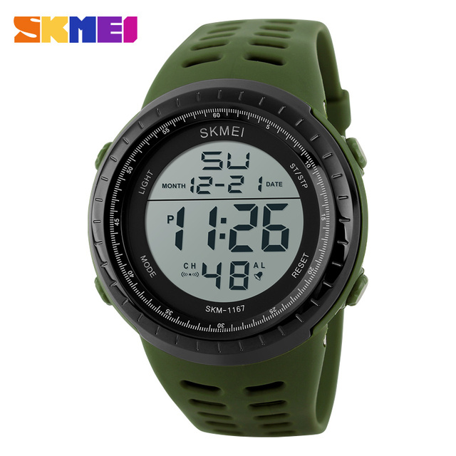 SKMEI Brand Mens Sports Watches Multifunction Digital LED Military Watch Men Fashion Casual Electronics Outdoor Wristwatches