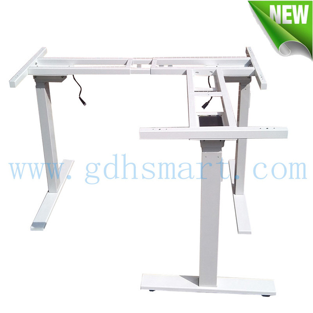 Healthy 3 Legs Sit And Stand Office Desk U0026 L Shape Electric Adjustable Desk  Frame With