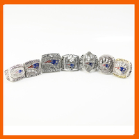 2001 2007 2003 2004 2011 2014 2016 NEW ENGLAND PATRIOTS BRADY CHAMPIONSHIP RING 7 PCS TOM