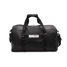 Wobag черный PU большой емкости модные сумки для пары Женская унисекс сумка для путешествий пляжная сумка через плечо