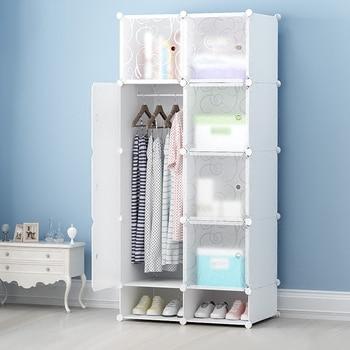 2017 New Simple Wardrobe Modern Economic Assembly Wardrobe Storage Steel Frame Fabric Real Plastic Bedroom Wardrobes