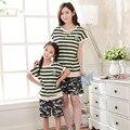 2017 семья посмотрите clothing набор футболка + брюки мать дочь пижамы сопоставления мать дочь одежда мама и я одежда