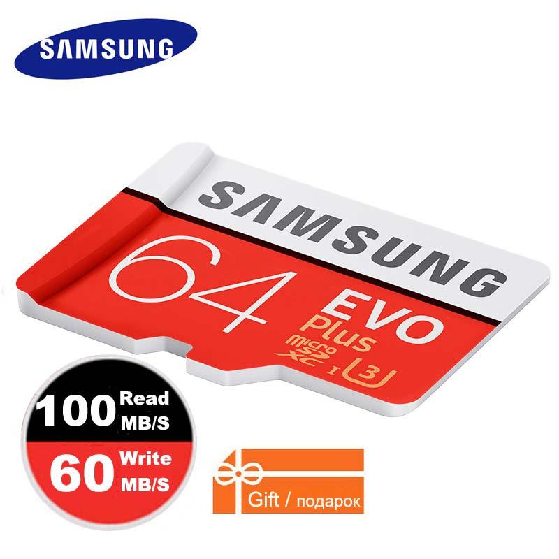 SAMSUNG Micro SD Speicher Karte 64 gb 32 gb 128 gb Plus Class10 Wasserdichte TF Memoria Sim Karte Trans Mikro karte 128 gb Für smartphones