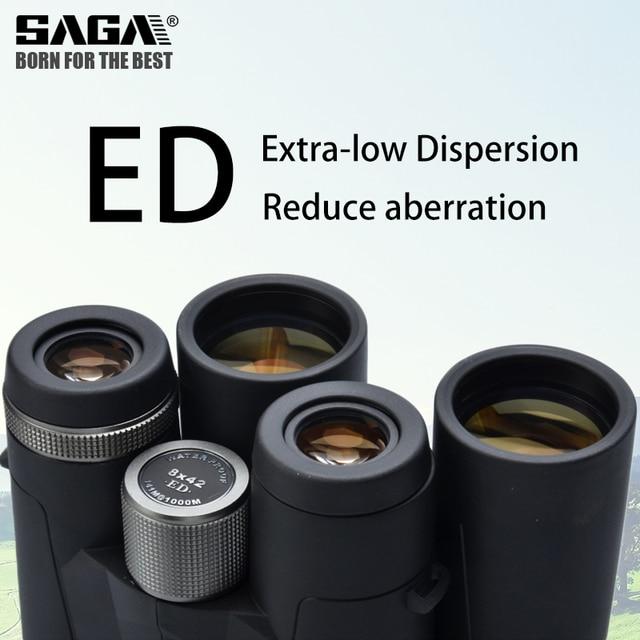 Saga High Definition Binoculars 8X42 10X42 ED Lens Camping Hunting Scopes Large Eyepiece Telescope Professional Binocular Hd 3