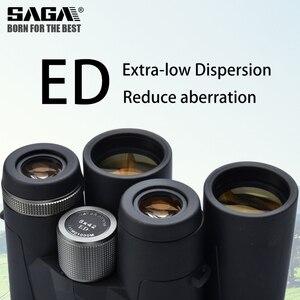 Image 3 - Saga бинокль высокой четкости 8X42 10X42 ED объектив кемпинг охотничьи области большой окуляр телескоп Профессиональный бинокль Hd