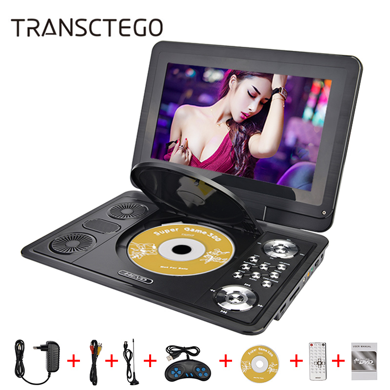 14 inch HD DVD Player Mobile DVD DIVX Player Small Portable TV EVD Long play luces led de policía