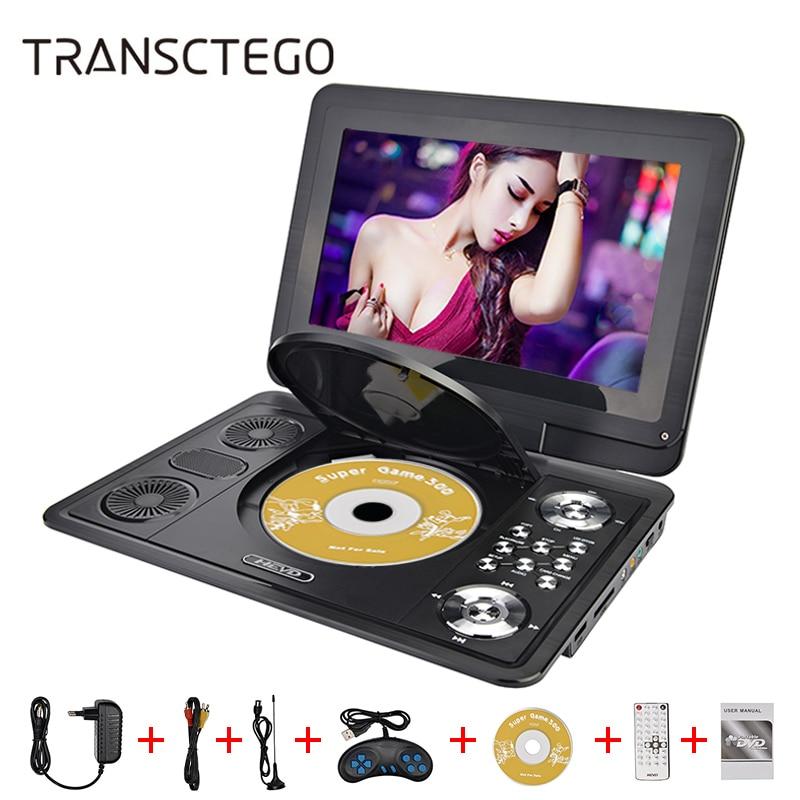 13 дюймов HD портативный DVD плеер Мобильный цифровой мультимедийный плеер ТВ EVD радио MPEG MPEG4 VCD SD карты U диск play